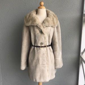 SPORTOWNE Vintage Faux Fur Coat Size 16